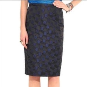 J. Crew Polka Dot Brocade Pencil Skirt